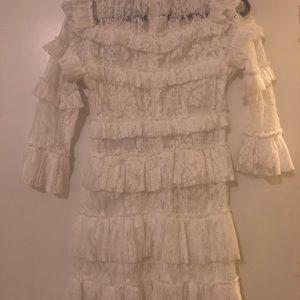 Tiger Mist Ruffled Lace Dress Nwt